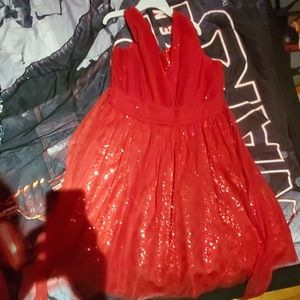 Girls dress size 14 red